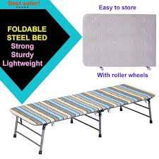 Folding Bed Frame Qoo10 Foldable Single Bed Furniture Deco