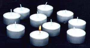 small candles in decors