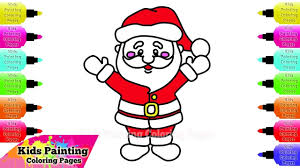 kids painting coloring pages draw coloring santa