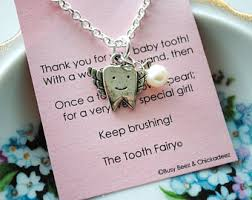 tooth fairy gift fairy necklace etsy