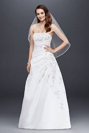 wedding dresses for small bust 2 strapless a line wedding dress with side drape david s bridal