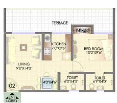 The O2 Floor Plan by Residency Park Hdil