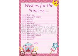 instant download baby shower invitations wishes for baby princess baby shower game instant download