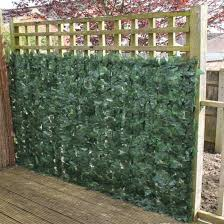 artificial ivy hedge panels on a roll is ideal for disguising