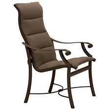 Sling Back Patio Chairs Montreux Padded Sling Dining Chair With High Back 710101ps On