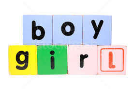 boy in play block letters with clipping path stock photo