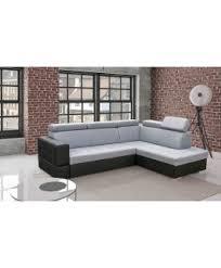 canapé d angle noir et gris canapé d angle convertible softy