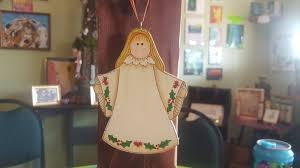 angel choir ornament christmas tree ornament hand painted wood