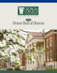 2009 honor roll of donors by georgia college issuu