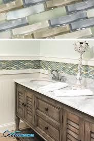bathroom chair rail ideas our client used this backsplash tile as a chair rail border