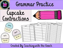 grammar practice contraction cupcakes by teaching with the gooch