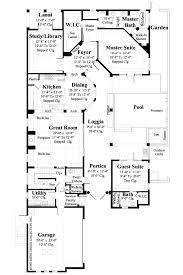 Mediterranean Floor Plans With Courtyard Ferretti House Plan Courtyard Pool Entry Gates And