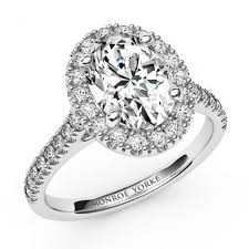 oval shaped engagement rings laurel a striking halo diamond ring with a certified oval