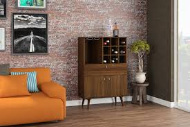 Large Bar Cabinet Boahaus Bar Cabinet Brown Wine Storage One Drawer One