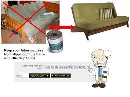 aspen armless full size futon package w pre upholstered