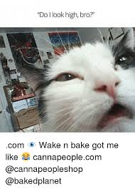 Wake N Bake Meme - do look high bro com wake n bake got me like cannapeoplecom