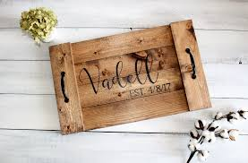 personalized trays wood serving tray custom wood tray personalized serving