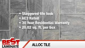 Alloc Laminate Flooring Alloc Tile Review Of Laminate Tile Flooring Youtube