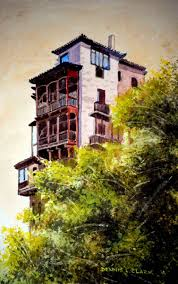 how to paint a house on a cliff edge in watercolor u2014 online art