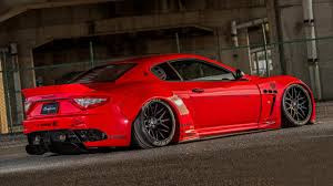 maserati granturismo red here u0027s the liberty walk maserati granturismo top gear