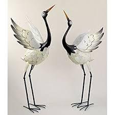 Regal Home And Garden Decor Amazon Com Regal Art U0026gift Preening Bronze Heron Standing Art