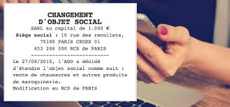 changement adresse siege social modèle annonce légale changement d objet social le légaliste