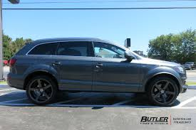 Audi Q7 Off Road - audi q7 with 22in vossen cv3 r wheels exclusively from butler