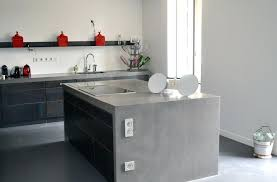 beton ciré mur cuisine beton cire cuisine pour credence solutions reviews mur lolabanet com