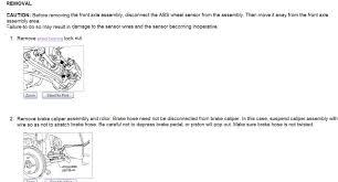 nissan maxima wheel bearing 2001 maxima front wheel hub assebly wheel bearing step instructions