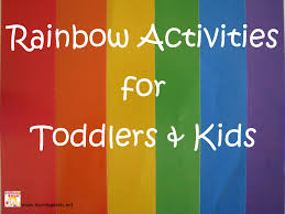 rainbow activities for toddlers and learning 4