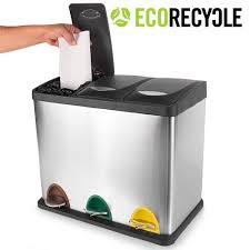 poubelle cuisine tri s駘ectif 2 bacs poubelle de cuisine tri selectif 2 bacs 1 poubelle de tri 3 bacs
