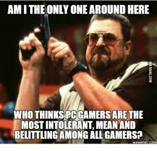 Meme Gamer - amithe only one around here who thinks pc gamers are the