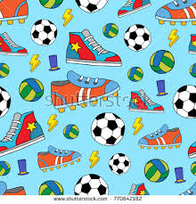 sports wrapping paper sport seamless vector pattern textile stock vector 770642182