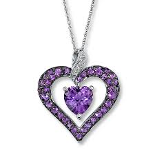 diamond necklace hearts images Purple diamond heart necklace beauty diamond necklace diamantbilds jpg