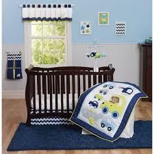 Crib Bedding Monkey S 30 P Set Crib Bedding Boy Monkey Cars Planes Green Blue