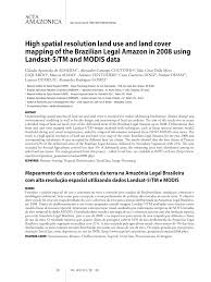 Lê Diniz Resultados Da Pesquisa High Spatial Resolution Land Use And Land Cover Mapping Of The