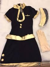 Flight Attendant Halloween Costumes Flight Attendant Clothing Shoes U0026 Accessories Ebay