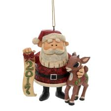 enesco traditions by jim shore dated 2017 rudolph santa 3 25 in