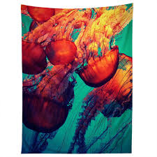 krista glavich jellyfish 7 tapestry deny designs home accessories