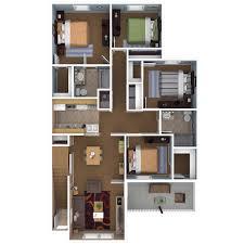 bed four bedroom floor plan