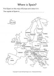 spain on a map spain on map of europe