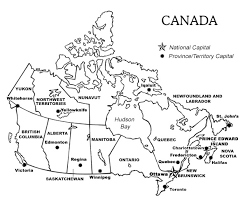 canada blank map printable map of canada with provinces and territories and their