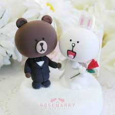 wedding cake toppers theme wedding cake topper line character theme