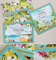 cindy m tropical beach and floral wedding invitationsmomental