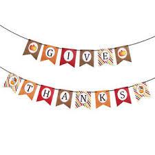festive hanging banner thanksgive paper festoon thanksgiving