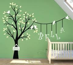 popular custom nursery decor buy cheap custom nursery decor lots w135 custom personalised name birds tree wall sticker vinyl decals kids nursery decor china
