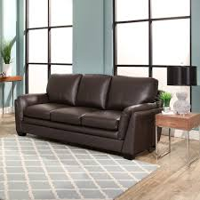 leather sofa free delivery abbyson bella brown top grain leather sofa free shipping today