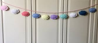 Decor Baby by Crochet Clouds Banner Pattern Baby Garland Crochet Decorations