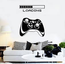 wall stickers and decals buy online wall decorations at gaming vinyl wall decal art joystick loading video game stickers ig4195