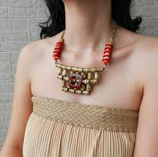big statement gold necklace images Big ornate tribal statement necklace ethnic jewelry on luulla 38736